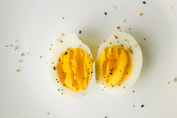 egg cut in half